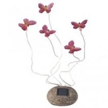 """Садовая фигура """"бабочки"""" на солнечной батарее Feron, цвет розовый, CD712P."""