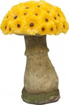 """Садовая фигура на солнечной батарее Feron """"Гриб цветной"""",желтый"""
