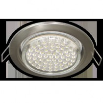 Светильник Ecola GX53 H4 Downlight without reflector_satin chrome () 38х106 - 10 pack