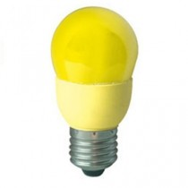 Цветная лампа Ecola globe Color 9W 220V E27 Yellow Желтый 91x46