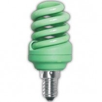 Цветная лампа Ecola Spiral Color 12W 220V E14 Green Зеленый 95x43