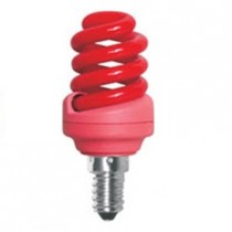 Цветная лампа Ecola Spiral Color 12W 220V E14 Red Красный 95x43