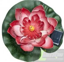 """Садовая фигура Feron """"Кувшинка"""" на воду на солнечной батарее ,цвет красный,PL263."""