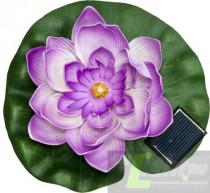 """Садовая фигура Feron """"Кувшинка"""" на воду на солнечной батарее ,цвет сиреневый,PL263."""