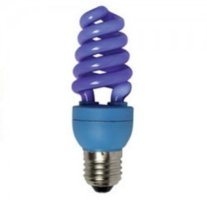Цветная лампа Ecola Spiral Color 15W 220V E27 Blue Синий 124x45