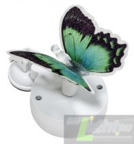 """Светильник Feron на присоске на солнечной батарее """"Бабочка"""" зеленый, 1 RGB LED, 463042мм, PL264."""