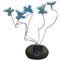 """Садовая фигура """"бабочки"""" на солнечной батарее Feron,цвет синий, CD712B."""