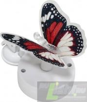 """Светильник на присоске на солнечной батарее Feron """"Бабочка"""" красно-белый, 1 RGB LED, 463042мм, PL264."""