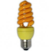 Цветная лампа Ecola Spiral Color 15W 220V E27 Yellow Желтый 124x45
