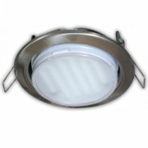 Светильник Ecola GX53 H4 Downlight without reflector_satin chrome () 38х106 - 2pack