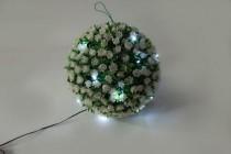 """Садовая фигура на солнечной батарее Feron """"Цветочный шар"""", белый, E5209"""