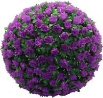 """Садовая фигура на солнечной батарее Feron """"Цветочный шар"""", фиолетовый , E5209"""