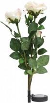 """Газонный светильник на солнечной батарее Feron, """"Ветка розы"""",цвет белый, PL308"""