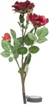 """Газонный светильник на солнечной батарее Feron, """"Ветка розы"""",цвет красный,PL308"""