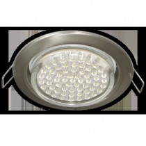 Светильник Ecola GX53 H4 Downlight without reflector_satin chrome () 38х106