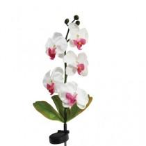 """Газонный светильник на солнечной батарее Feron """"Бело-розовая орхидея"""", 5LED, белый, 70 см, PL301"""