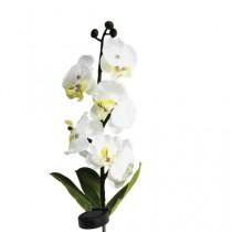 """Газонный светильник на солнечной батарее Feron, """"Бело-желтая орхидея"""", 5LED, белый, 70 см, PL301"""