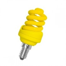 Цветная лампа Ecola Spiral Color 12W 220V E14 Yellow Желтый 95x43