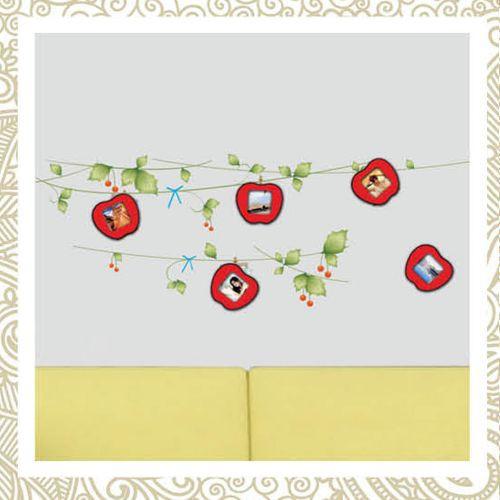 """Feron Наклейка на стену для 5 фоторамок """"Красные яблочки"""", NL84 23334"""