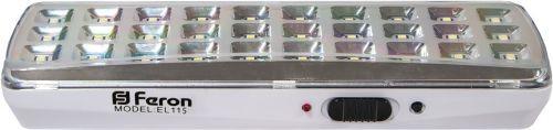 12668 Светодиодный аккумуляторный светильник Feron,,белый, EL115 купить. ☎ +74957735821 Rulight.ru